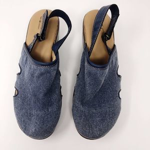 Born Concepts Denim Mules - Size 9M
